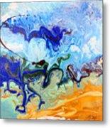 Stormy Seas Abstract #3 Metal Print