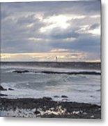 Stormy Seas And Sky Metal Print