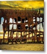 Stormy Shipwreck Metal Print
