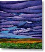 Stormy Skies Over the Prairie Metal Print