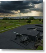 Stormy Sky Over Fort Moultrie Metal Print