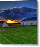Stormy Sunset In The Country Metal Print