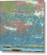 Stormy Coastal Sunset Metal Print