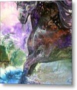 Stormy Wind Horse Metal Print