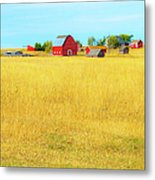 Storybook Farm Metal Print