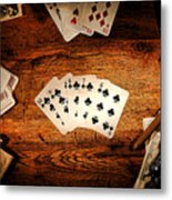 Straight Flush Metal Print by Olivier Le Queinec