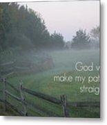 Straight Paths - Text Full Metal Print