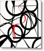 Straights And Rounds Metal Print