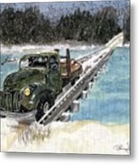 Stranded On Rockford Bridge Metal Print