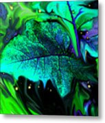 Strange Green World Metal Print