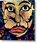 Strange Man Color Metal Print