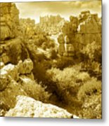 Strange Rock Formations At El Torcal Near Antequera Spain Metal Print