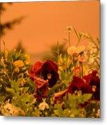 Strange Weather/flourished Flower Metal Print