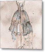 Strapless Champagne Dress Metal Print