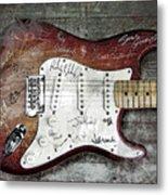 Strat Guitar Fantasy Metal Print