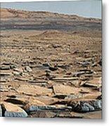 Stratified Rock On Mars Metal Print