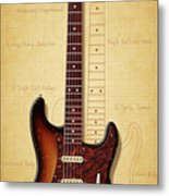 Stratocaster Illustration Metal Print