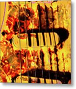 Stratocaster Strat Plus Lace Sensors Pop Art Metal Print