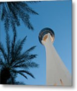 Stratosphere Tower Metal Print by Andy Smy