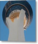Stratosphere Tower Up Close Metal Print