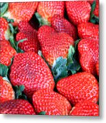 Strawberries 8 X 10 Metal Print