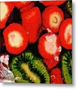 Strawberries And Kiwi Metal Print