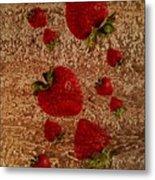 Strawberries And Stone Slab  Metal Print
