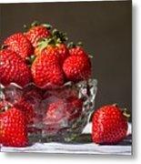 Strawberries In The Sun Metal Print