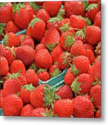 Strawberries Jersey Fresh Metal Print