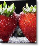 Strawberries Panorama Metal Print