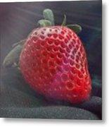 Strawberries Raise Metal Print