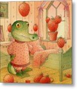 Strawberry Day Metal Print