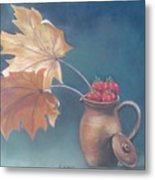Strawberry Fall Metal Print