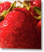 Strawberry Fun Metal Print