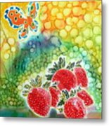 Strawberry Garden Metal Print