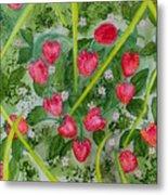 Strawberry Love Patch Metal Print