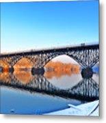 Strawberry Mansion Bridge  Metal Print