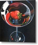 Strawberry Martini Metal Print