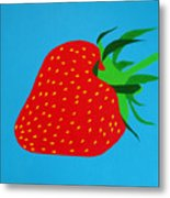 Strawberry Pop Metal Print by Oliver Johnston