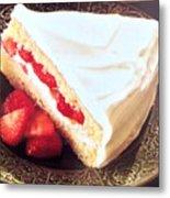 Strawberry Short Cake  Metal Print