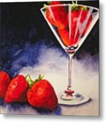 Strawberrytini Metal Print
