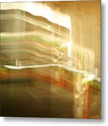 Streak Door Lights Metal Print
