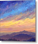 Streaking Sky Over Cold Mountain Metal Print