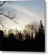 Streaks Of Clouds In The Dawn Sky Metal Print