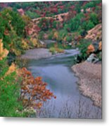 Stream And Fall Color In Central California Metal Print