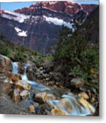 Stream And Mt. Edith Cavell At Sunset Metal Print
