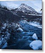 Mountain Stream In Twilight Metal Print