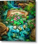 Stream In Ambiance Metal Print