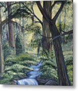 Stream In The Low Country Metal Print