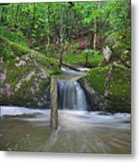 Stream Waterfall Metal Print